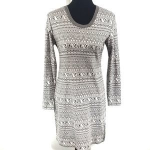 KAVU long Sleeve Knit Intarsia Adventure Dress